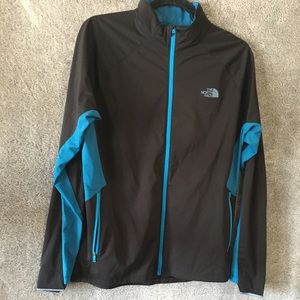 North Face Men's Windbreaker Full Zip Jacket